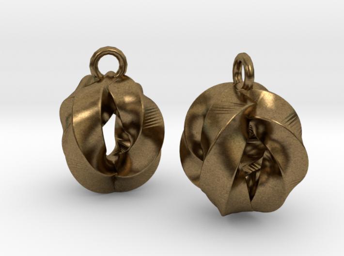 Crossing-Rings-EarRings 3d printed