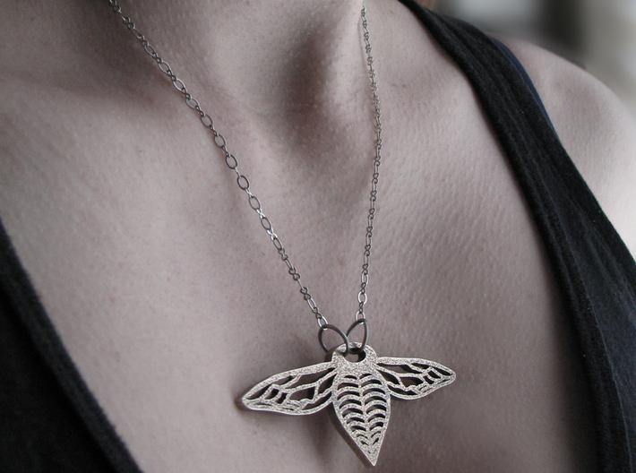 Bee Drop Necklace Smaller 3d printed