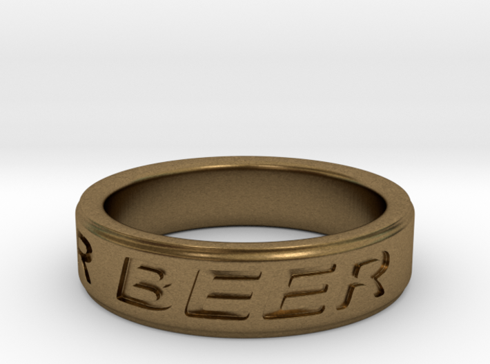 """""""NEED FOR BEER"""" Ring 3d printed"""