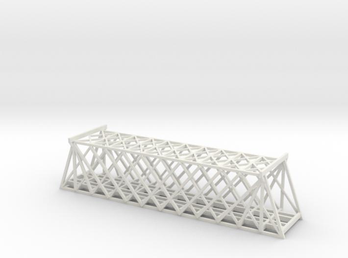 T SCALE DOUBLE TRACK TRUSS BRIDGE 3d printed
