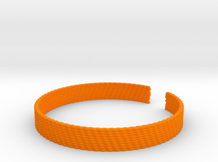 Weave Bangle (Medium) 3d printed