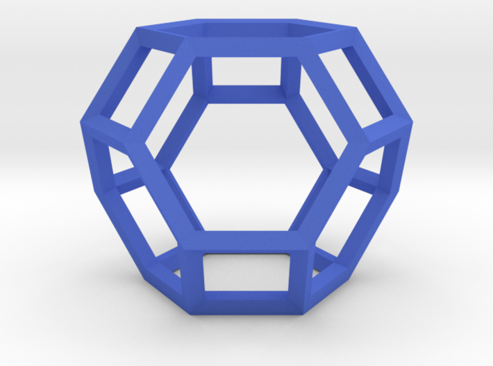 Truncated Octahedron(Leonardo-style model) 3d printed