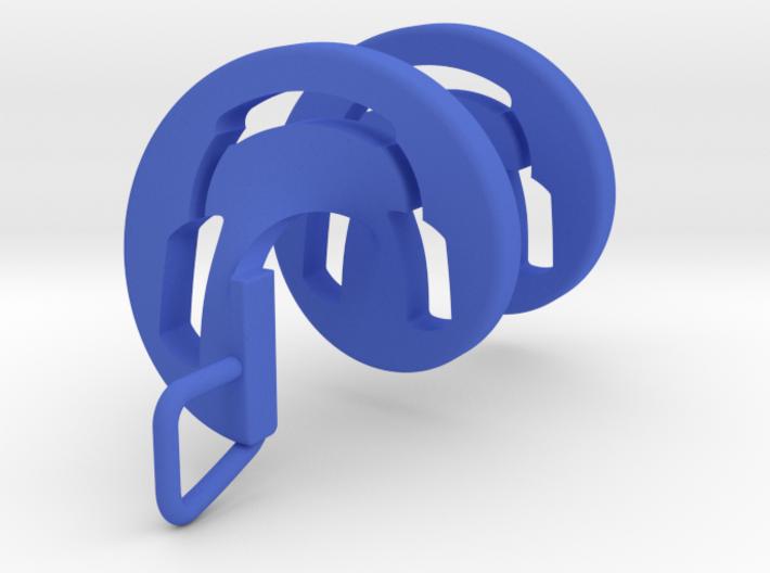 Headphones Spiral Pendant 3d printed