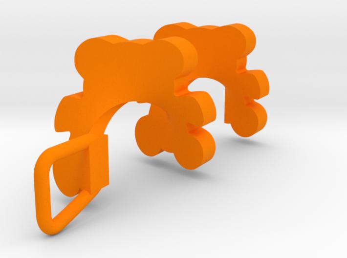Spiral Teddy Bear Pendant 3d printed