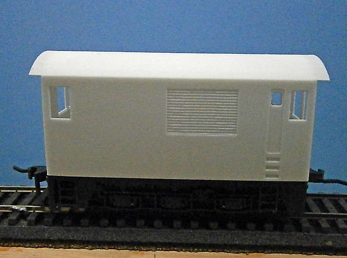 O Scale Critter Body 3d printed Side View of Body on Chassis