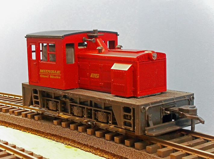 F Scale critter cab 3d printed The Atlas Loco Before Modification
