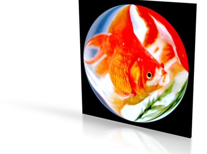 Tokyo Fish - flat - 4in 3d printed