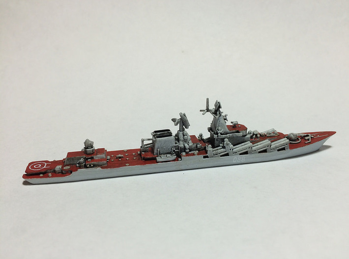 Slava Soviet Missile Cruiser - 1/1800 and smaller 3d printed Painted model by Jnightfall