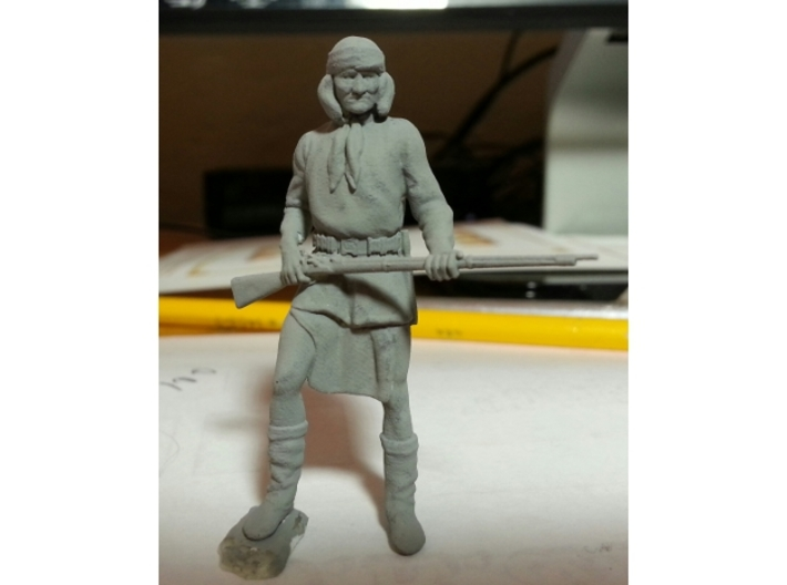 1:32 scale Gironimo Standing 3d printed Prepared for additional cleaning and smoothing