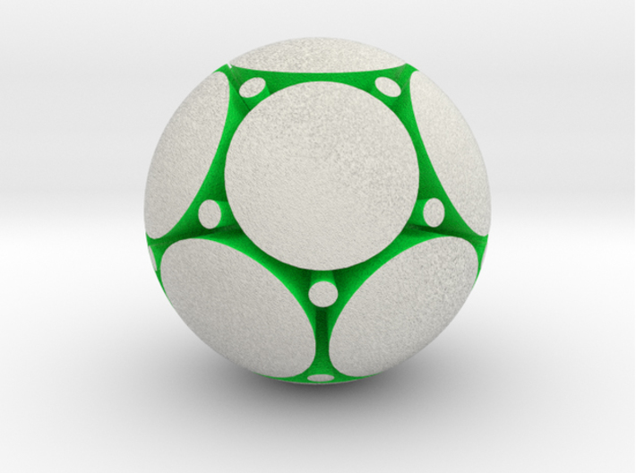 LuminOrb 2.2 - PEACE 3d printed Shapeways render of PEACE in Full Color Sandstone