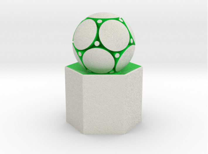 LuminOrb 2.2 - PEACE 3d printed Shapeways render of PEACE on a matching color Column Display Stand (optional)