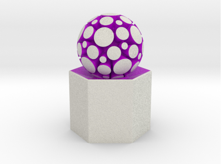 LuminOrb 1.6 - PASSION 3d printed Shapeways render of PASSION on a matching color Column Display Stand (optional)