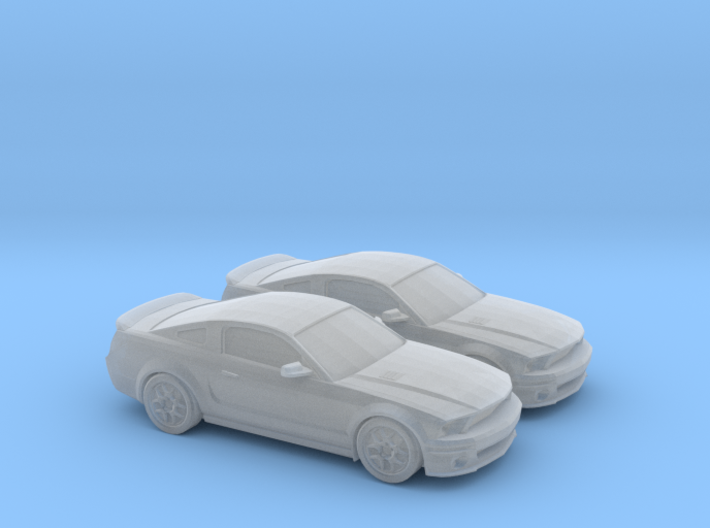 1/160 2X 2006-10 Ford Mustang Shelby 3d printed