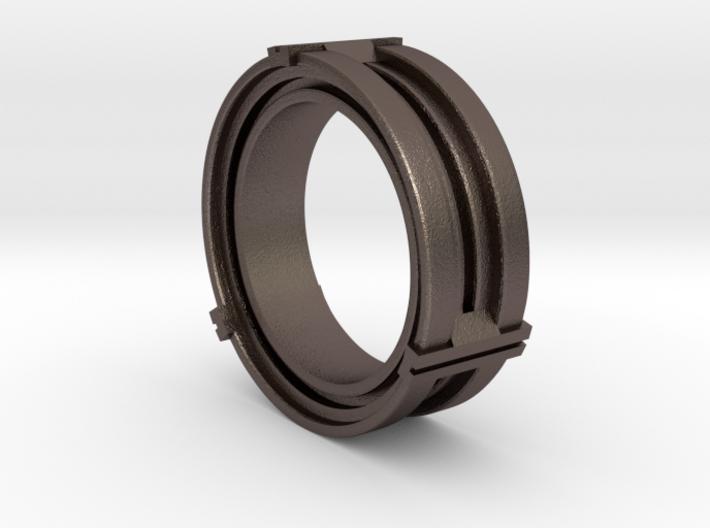 Daletox ring (Size 11) 3d printed