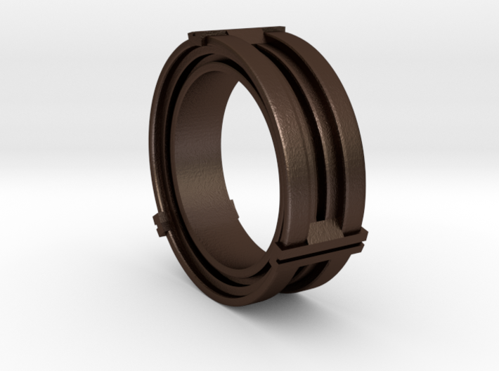 Daletox ring (Size 10) 3d printed