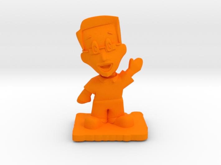 Designer Dan of Steel 2015 - Full Color - Waving 3d printed