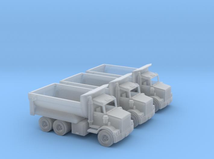 3 Dump Trucks Z Scale 3d printed 3 dump trucks z scale