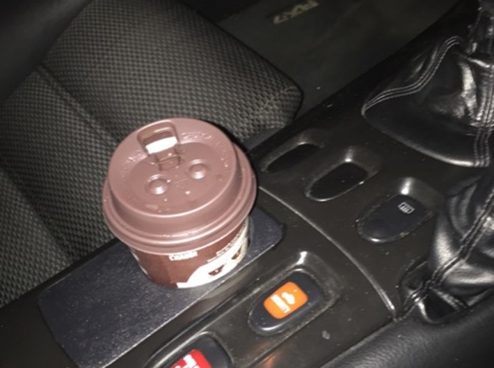 FD3S RX7 Cupholder replaces ashtray 3d printed painted black with krylon fusion