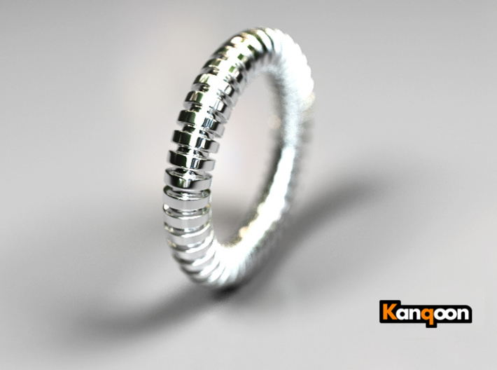 Patrick Circle - Ring - US 9 - 19 mm inside diame 3d printed Polished Silver PREVIEW