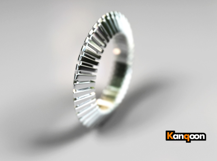 Patrick Triangle - Ring 3d printed Polished Silver preview
