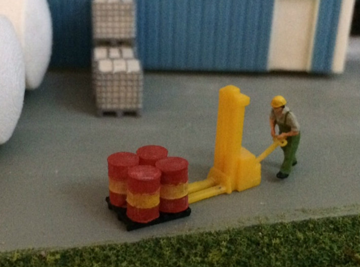 N Scale 55 Gallon Drums 6pc 3d printed