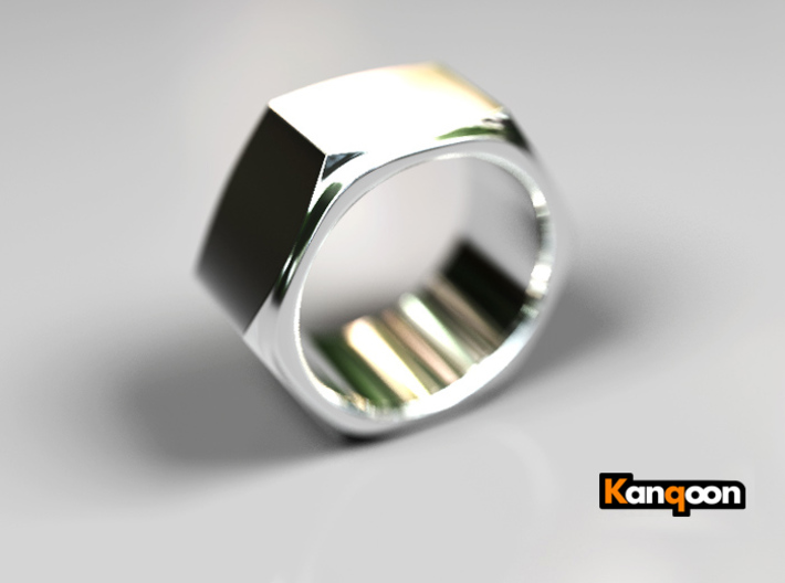 Aunt Barbara - Ring 3d printed Polished Silver PREVIEW