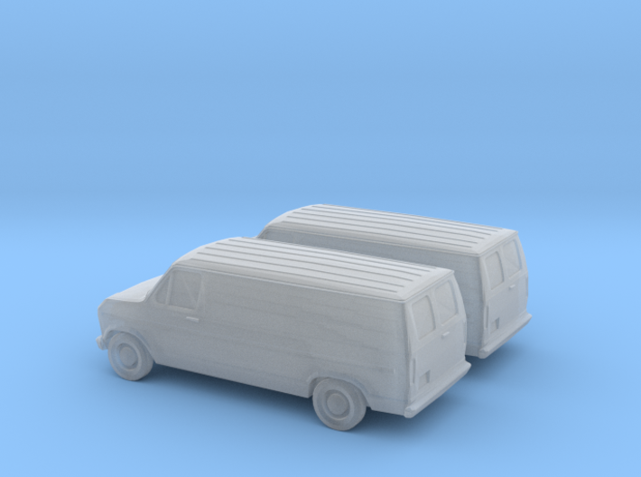 1/160 2X 1985 Ford Econoline 3d printed
