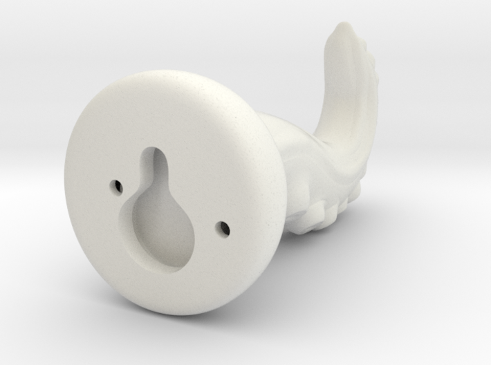 Tentacle Hook With Nail Hole - Hollow 3d printed