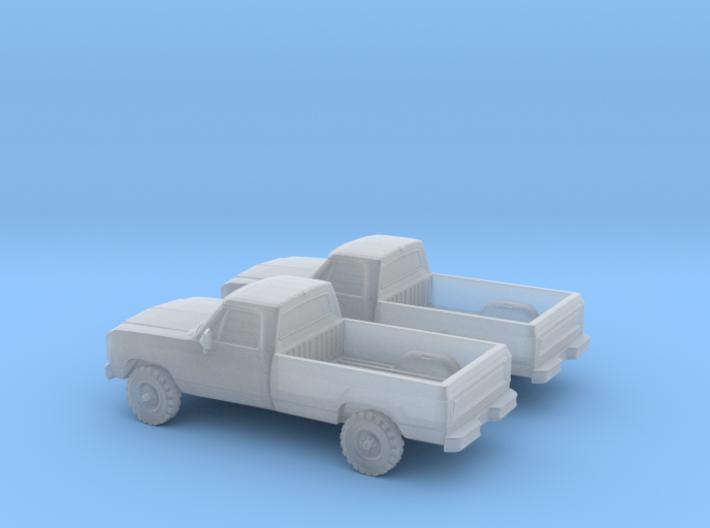 1/160 2X 1988-91 Dodge Ram Single Cab 3d printed