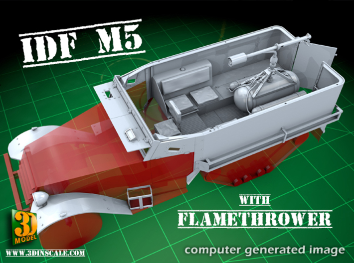 IDF M5 Flame w/o flamethrower 3d printed NOTE: flame gun NOT included