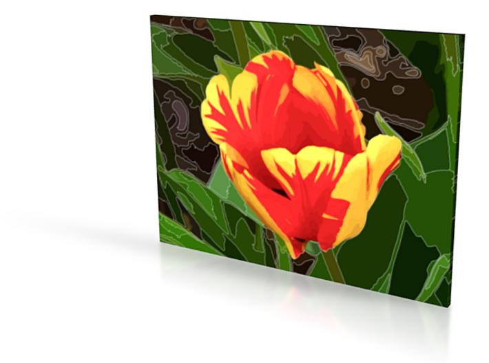 Tulip - flat - 4in 3d printed