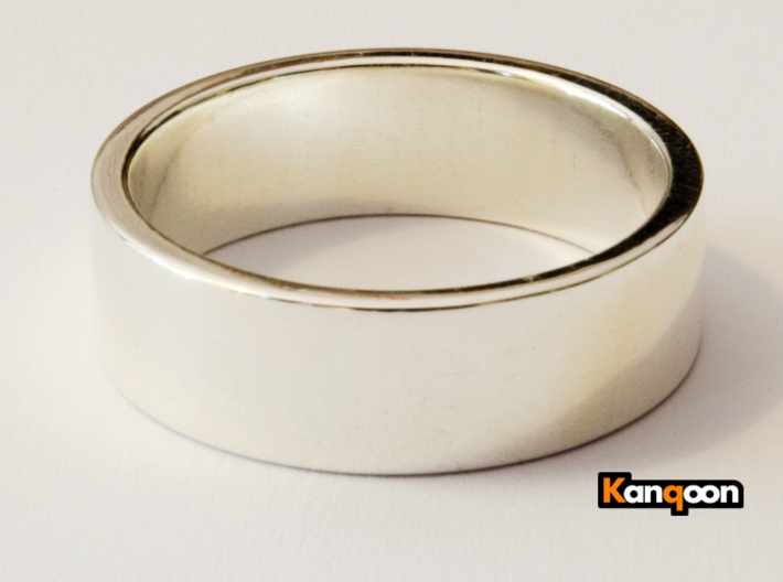 Bruno - Ring - US 9 - 19 mm inside diameter 3d printed Polished Silber PREVIEW