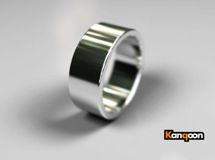 Brutus - Ring - US 9¾ - 19,5 mm inside diameter 3d printed Polished Silver PREVIEW