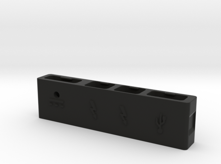 Macbook Pro Retina Cable Organizer With USB 3d printed