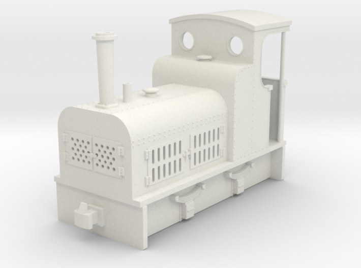 009 small early bagnall petrol loco 3d printed