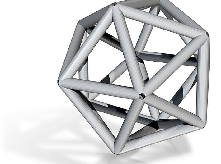 Icosahedron Necklace Pendant 3d printed
