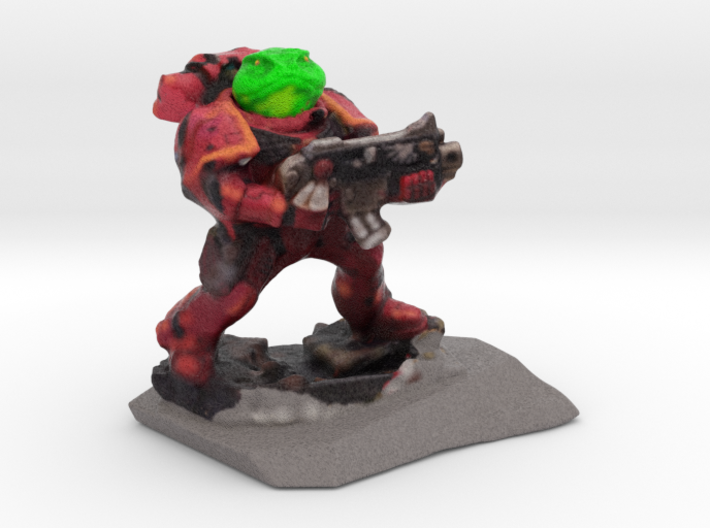 Spacemarine Frog70mmhollow2 3d printed