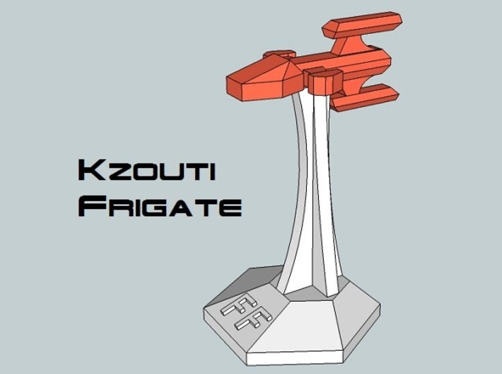 MicroFleet Kzouti Carrier Group (21 Pcs) 3d printed