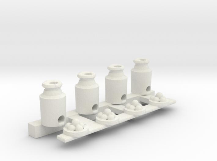 Milk Can Ball Toss 3d printed