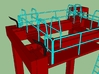 N Kalmar Intermodal Straddle Carrier (PIA) 3d printed Safety Rails #3
