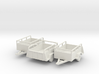 Open Cargo Trailers- Old U-haul style X3 HO 1/87  3d printed