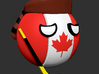 Countryballs Canada Hockey Stick 3d printed Hockey Canada Countryballs - 3d Render