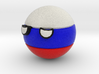 Countryballs Russia 3d printed Countryballs Russia - Full Color Sandstone