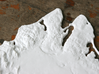 """Martha's Vineyard, MA, USA, 1:100000, 13'' 3d printed Close-up of Vineyard Haven and Oak Bluffs on the 12"""" model"""