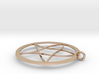 Pentagram Pendent(with Ring) 3d printed