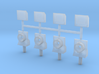 O Scale Ditchlights (Set of 4) 3d printed