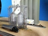 'N Scale' - 60 Deg.-18 Ft Dia. x 46' Grain Bin 3d printed