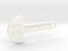 Loonie Shopping Cart Key 3d printed