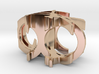 Kengo Ring [US size 5-3/4 (ring) & 6 (middle)] 3d printed