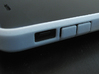 """Cariband case for iPhone 5/5s, """"holds stuff"""" 3d printed White Strong & Flexible POLISHED, Side, mute and volume buttons"""